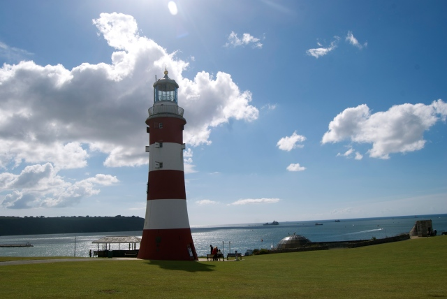 The famous lighthouse at the Hoe