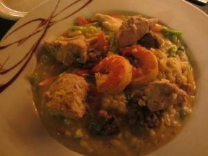 The underwhelming Paella: it looks better than it tastes