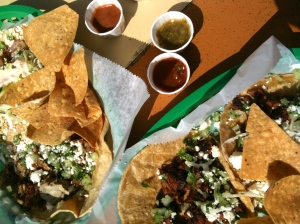 Taco's Galore:  We tried beef, shrimp, fish and duck.