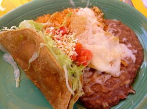 Chicken Taco with Rice and Beans