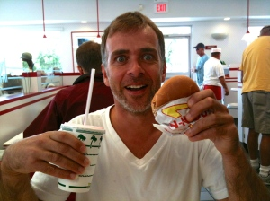 That's the face of someone tasting In-n-Out for the first time: wonderment