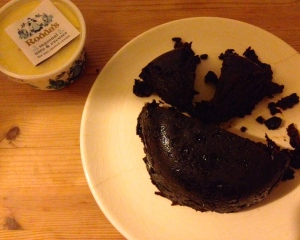 Dessert: Christmas Pudding  a la Toby's Mum with Clotted Cream